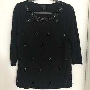 Talbots Jewel Embellished Sweater